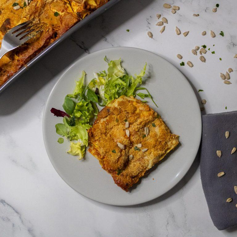 Recette lasagne vegan express tofu rosso