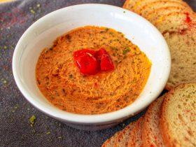 Recette vegan houmous aux tomates séchées
