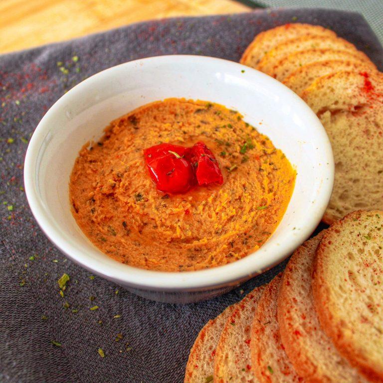 Houmous aux tomates séchées