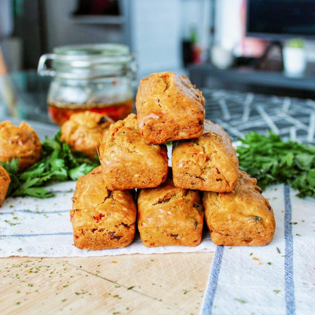 Recette muffins vegan aux tomates séchées