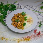 Recette curry de pois chiches, patate douce rôties vegan