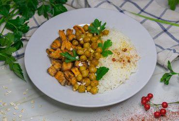 Recette curry de pois chiches, patate douce rôties vegan