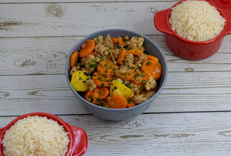 Recette carottes, pommes de terres et protéines de soja