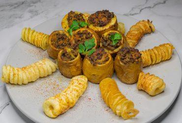 Recette pommes de terre farcies aux lentilles curry et lait de coco
