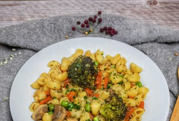 Recette pâtes aux petits légumes et brocoli rôtie