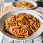 Recette nouilles chinoise sautées aux petits légumes