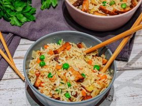 Recette riz cantonais vegan