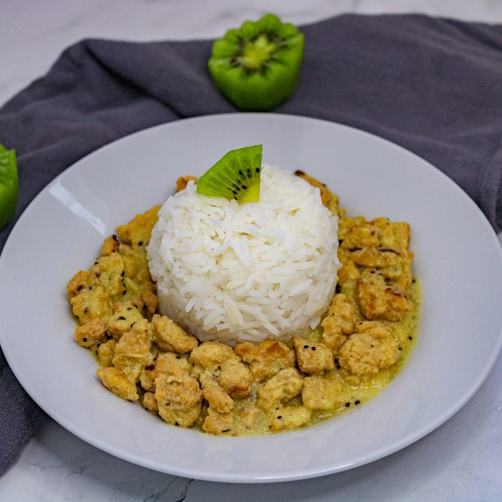 Recette sauce vegan aux kiwis et protéines de soja