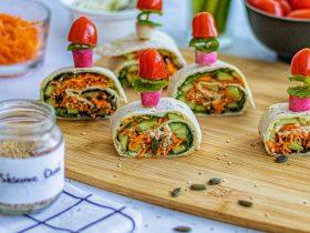 Amuse bouche / Apéritif facile Wraps Vegan