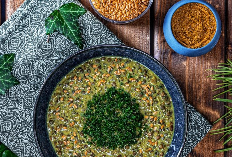 recette lentilles vertes tofu fumé garam masala